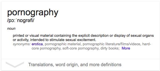 definition of pornography